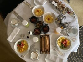 Hyatt Globalist room service breakfast
